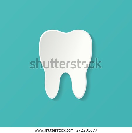 3d tooth icon - stock vector