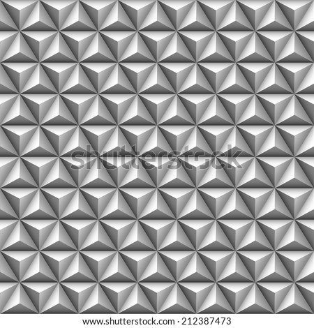 3d triangle seamless pattern - stock vector
