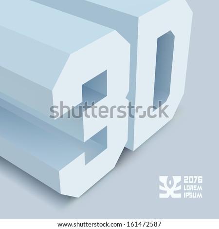 3D. Vector background. - stock vector