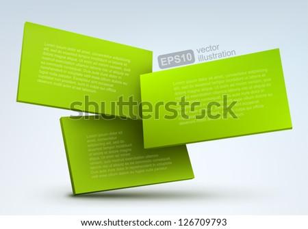 3d vector boards - stock vector