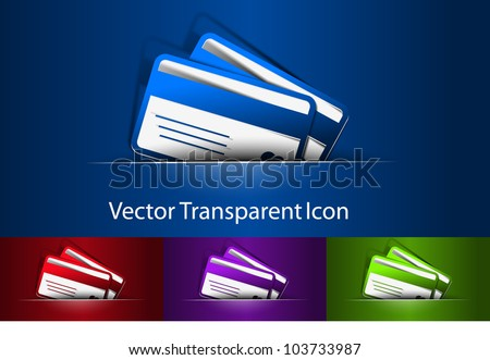 3d vector credit cards icon design element. - stock vector