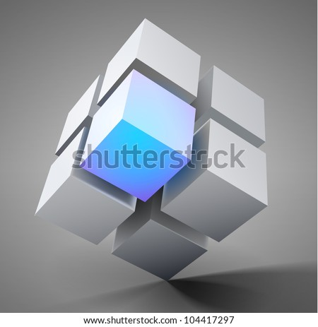 3D vector design element illustration - stock vector