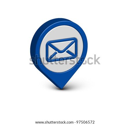3d vector email icon web design element. - stock vector