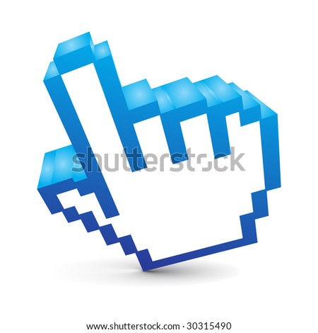 3d vector hand mouse symbol - stock vector