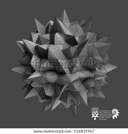 3D vector illustration. Abstract background.  - stock vector
