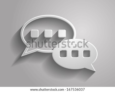 3d Vector illustration of chutting icon - stock vector