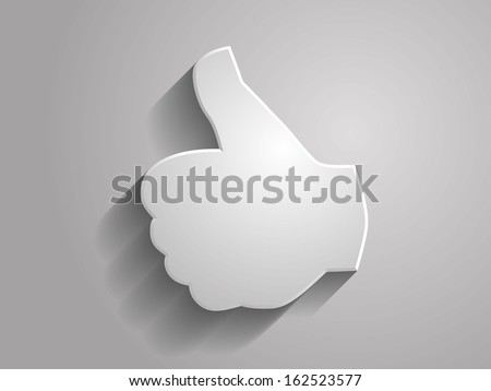 3d Vector illustration of like icon  - stock vector