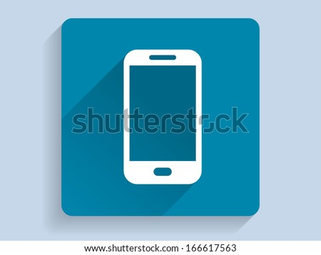 3d Vector illustration of smartphone icon - stock vector