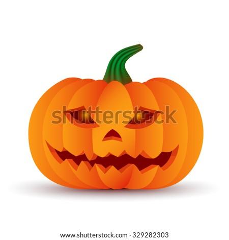 3d volumetric light color Pumpkin vector icon - stock vector