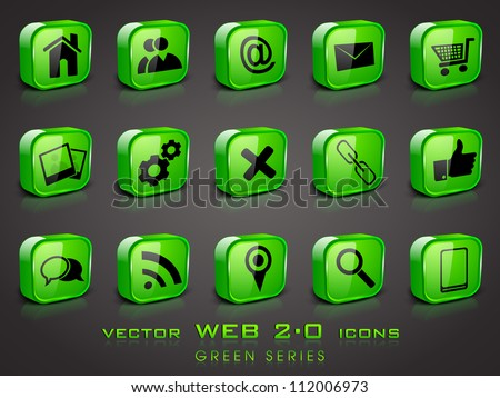 3D web 2.0 mail icons set. Can be used for websites, web applications. email applications or server Icons. - stock vector