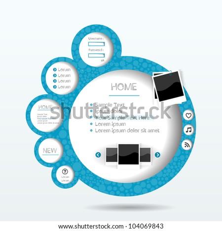 3d web set art page form - stock vector