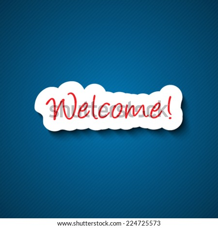 3d welcome sign - stock vector