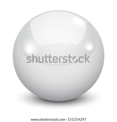 3d white ball isolated on white background  - stock vector