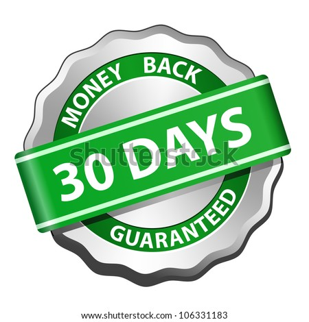 30 days money back guarantee sign. Vector illustration - stock vector