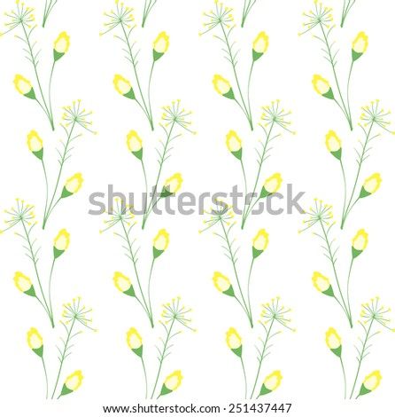 Decorative background of yellow wild flower - stock vector