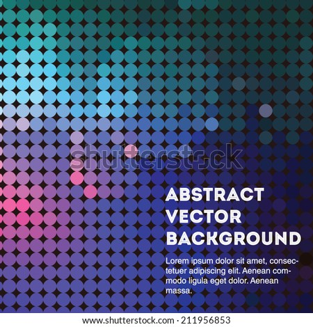 Deep blue abstract vector circle background illustration. Editable eps 10 illustration. - stock vector