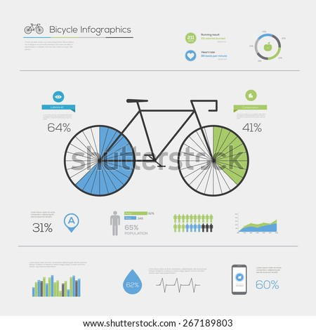 Design bicycle infographic - stock vector