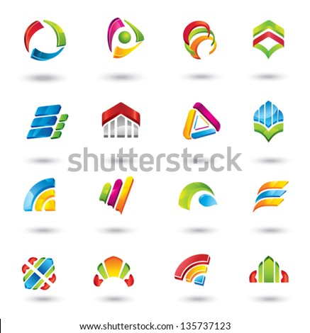 Design elements.   Collection with icons for abstract logo. - stock vector
