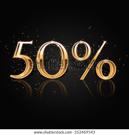 50% Discount Banner, Vector Abstract Sale Illustration - stock vector