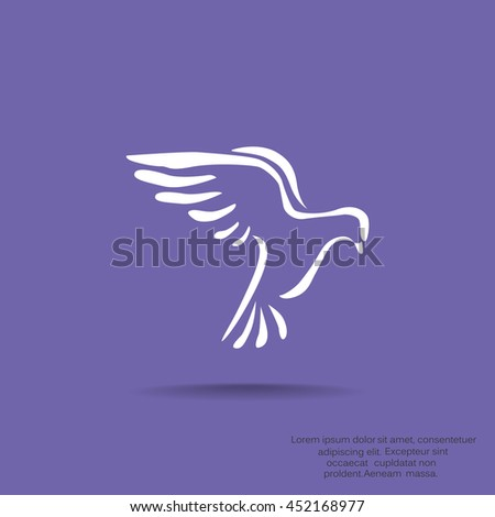 Dove icon Flat. - stock vector