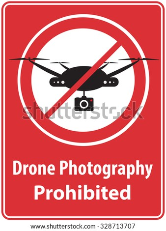 'Drone Photography Prohibited' Poster - stock vector