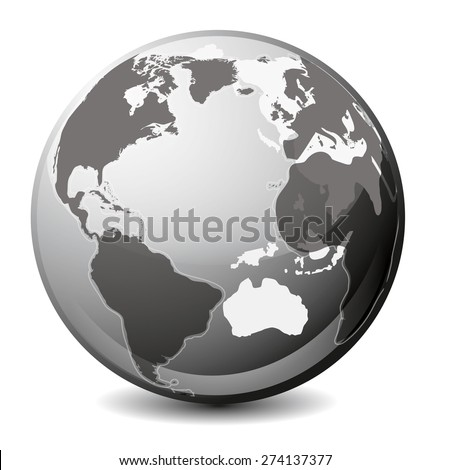 Earth transparent icon - stock vector