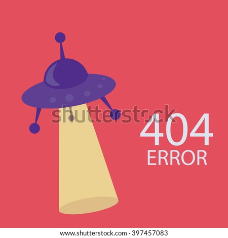 404 error connection over color background - stock vector