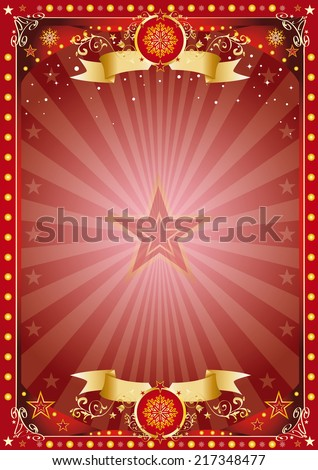 Fantastic christmas poster. Merry christmas and happy new year. A poster on the christmas theme for your... Enjoy - stock vector