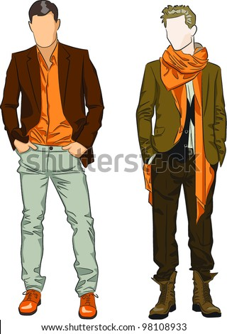 Fashion men - stock vector