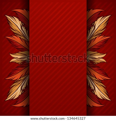feather background. Greeting Cards for your design - stock vector