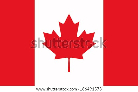 flag canada vector background - stock vector