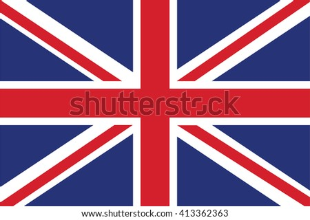 flag Great Britain, United Kingdom - stock vector