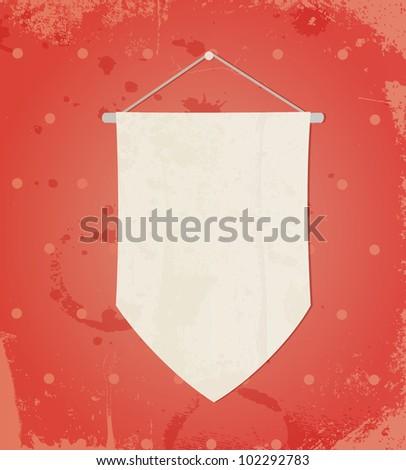 flag on retro background - stock vector