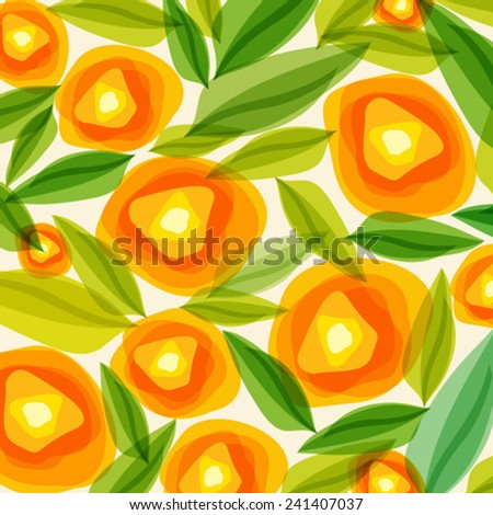 floral pattern with colorful flowers  - stock vector