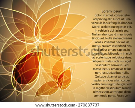 flower background with transparency petals for your text - stock vector