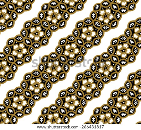 flowers and brown background of art. - stock vector