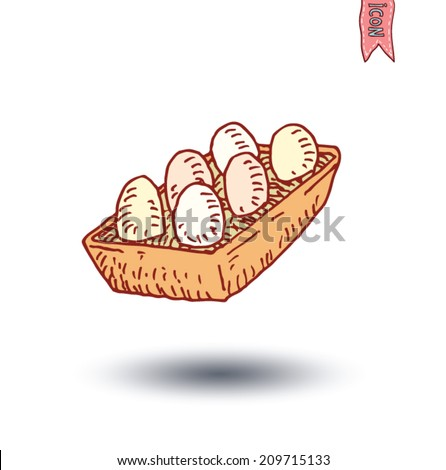 Food icon, vector illustration.  - stock vector