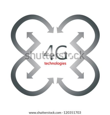 4g vector icon - stock vector