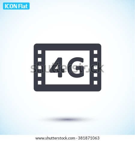 4G video Icon, 4G video icon flat, 4G video icon picture, 4G video icon vector, 4G video icon EPS10, 4G video icon graphic, 4G video icon object, 4G video icon JPEG, 4G video icon picture - stock vector