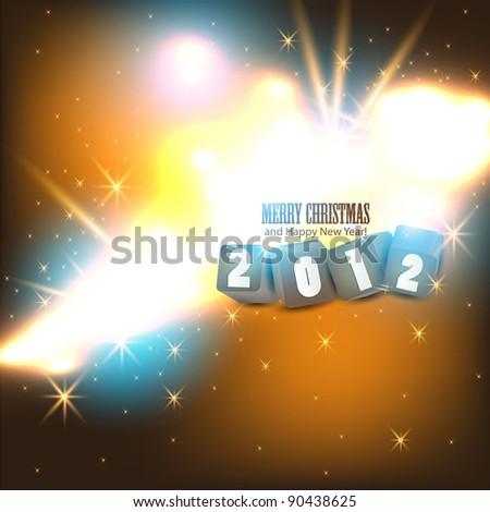 2012 Glittering  background. Vector illustration. - stock vector
