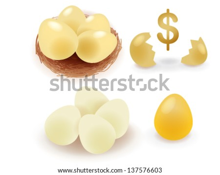 Golden Egg - Vector File EPS10 - stock vector