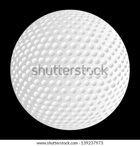 golf ball close-up vector art - stock vector