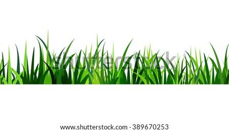 Green Grass seamless  - stock vector