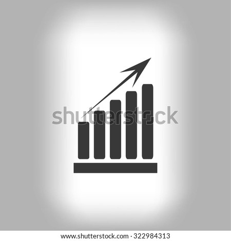 growth diagram icon - stock vector