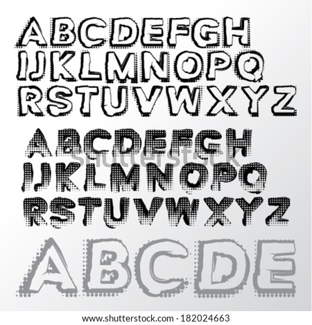 Graffiti letters stock photos illustrations and vector art