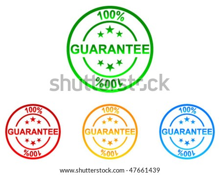 100 % GUARANTEE labels - stock vector