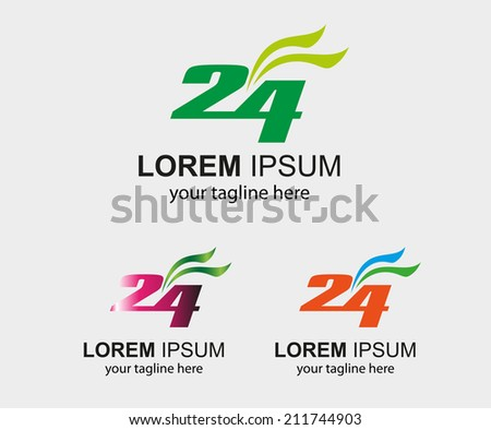 24 h symbol hours vector  - stock vector