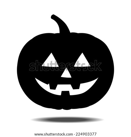 halloween pumpkin icon - stock vector