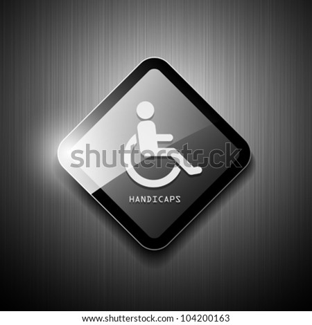Handicaps sign restroom modern. vector illustration - stock vector