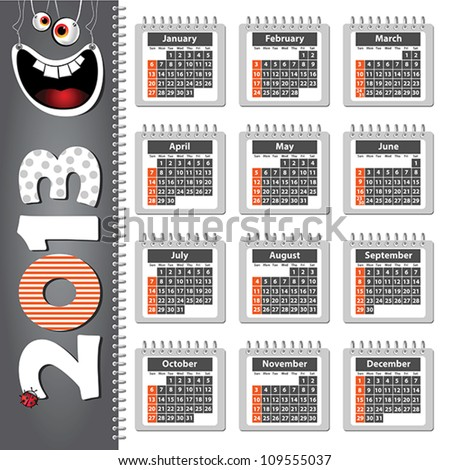 2013 happy - stock vector